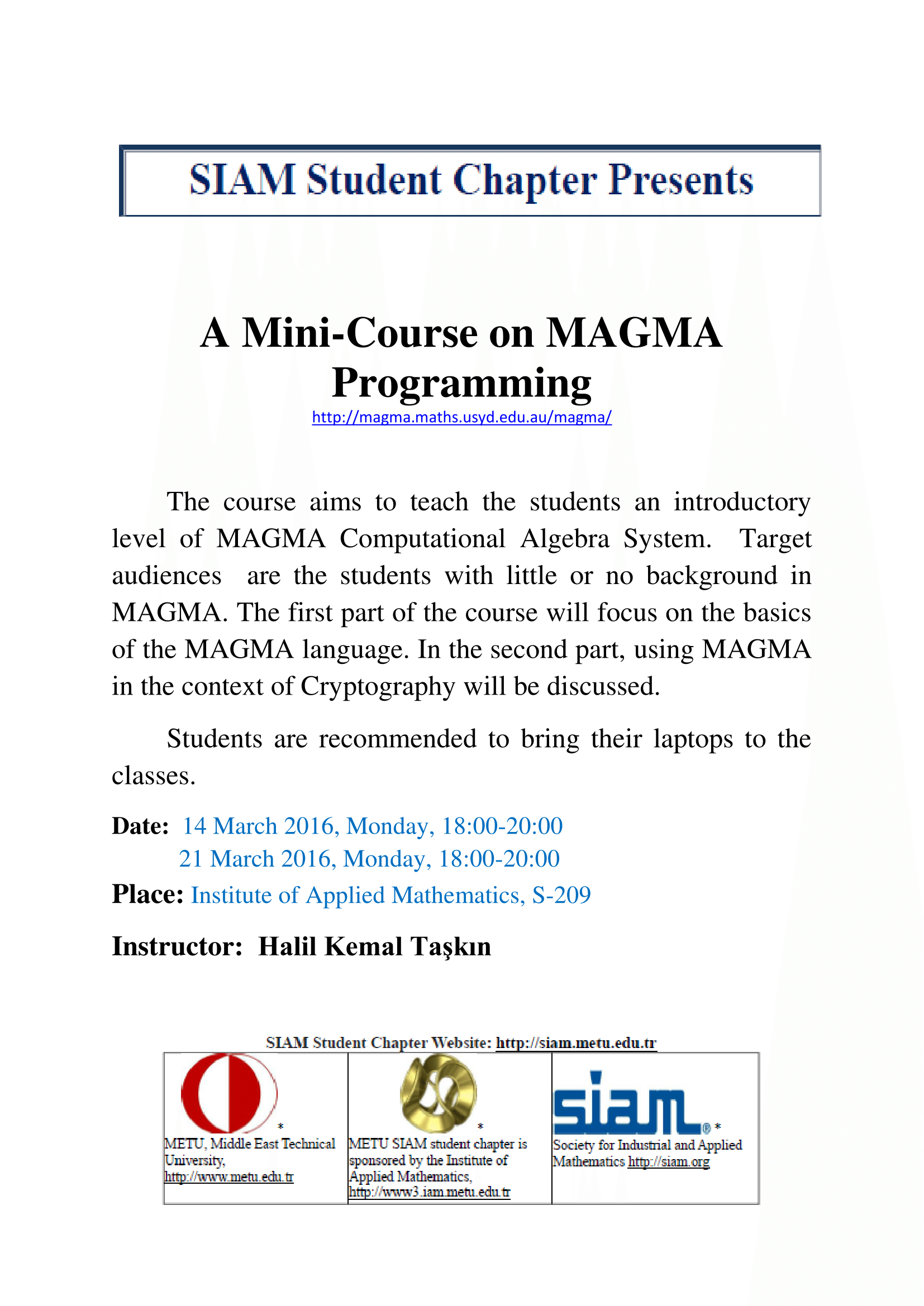 MAGMA Course_Announcement-1